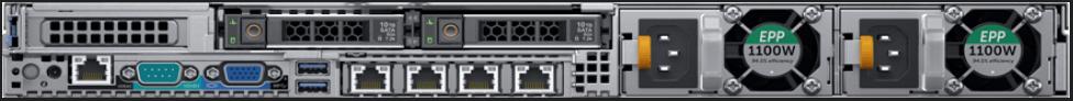 Dell R640 2SFF Back