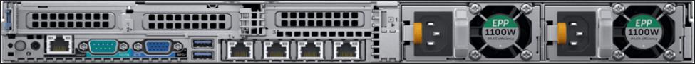 Dell R640 Back