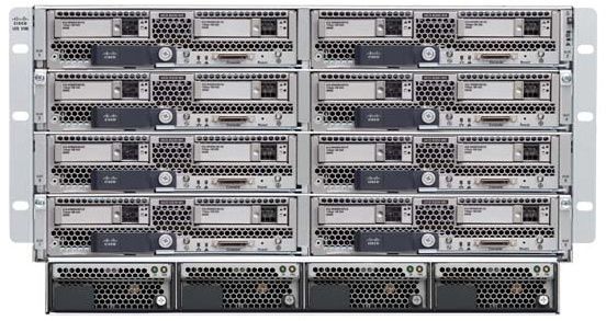 isco UCS 5100 Blade Server Chassis Front