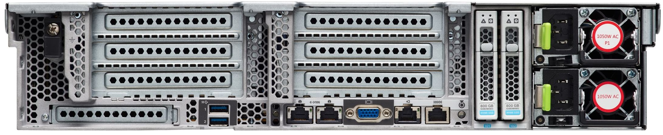 Cisco UCS C240 M5 Rear