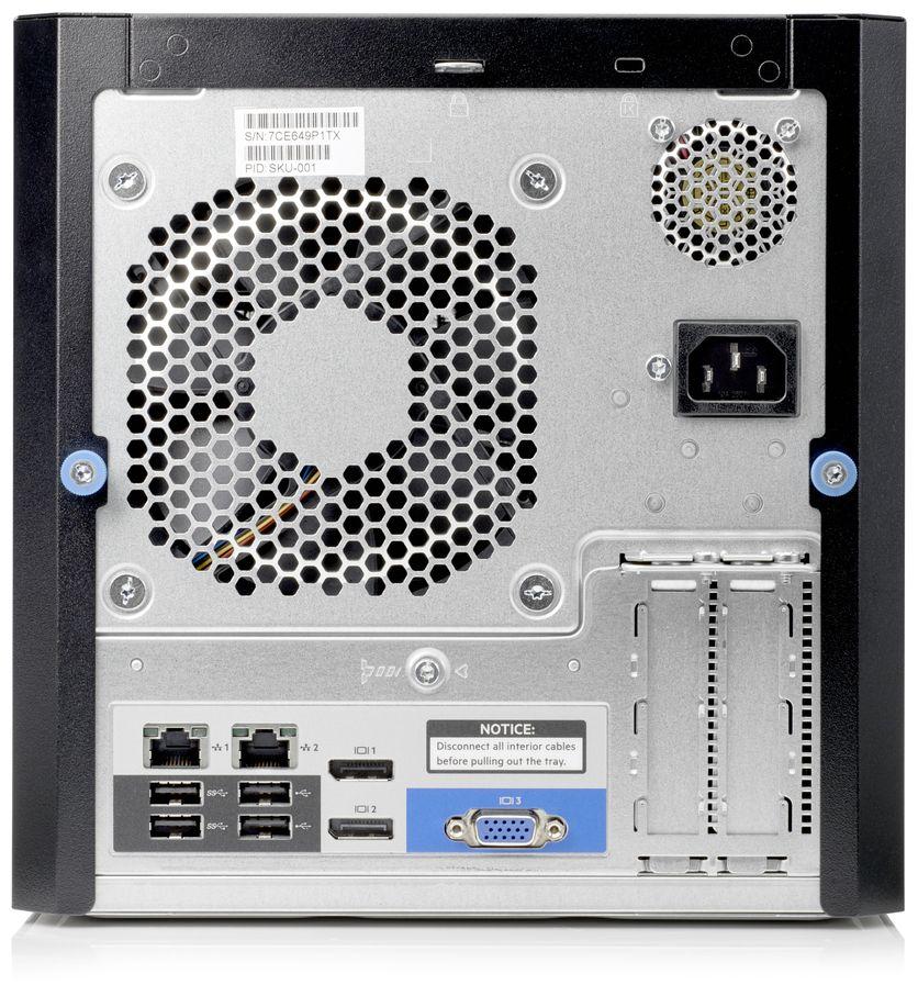 HPE ProLiant MicroServer Gen10 Rear
