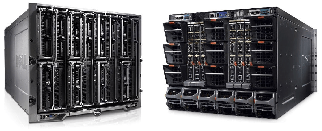 Dell-Poweredge-m1000e-Front-Rear