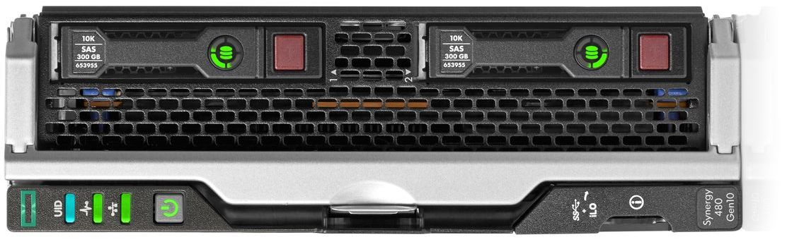 HPE Synergy 480 Gen10 Compute Module Front