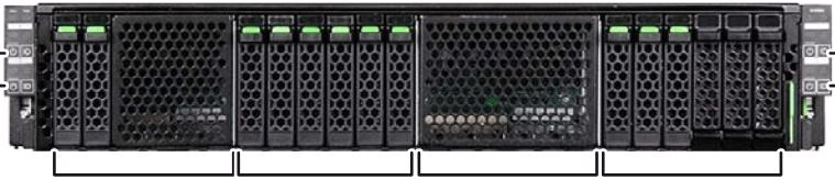 Fujitsu PRIMERGY CX400 M4 Enclosure Bays