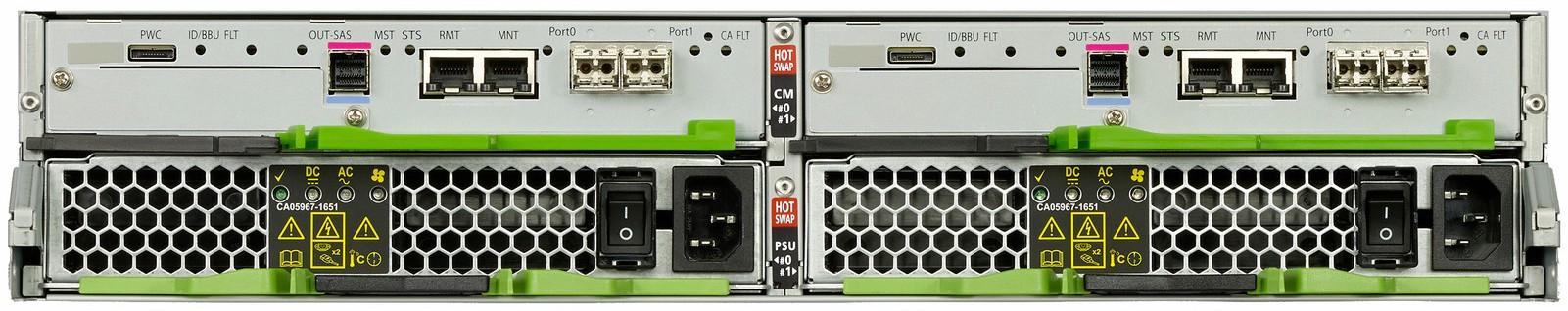 Fujitsu ETERNUS DX60 S4 Rear