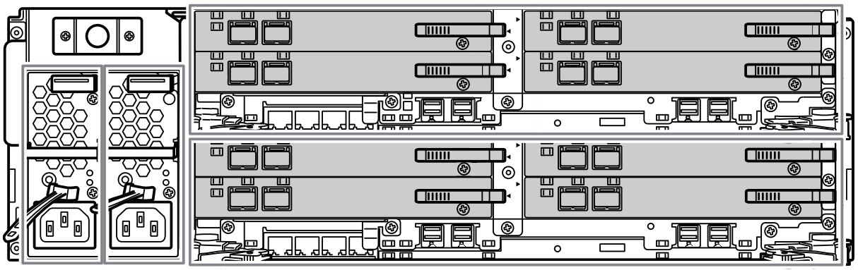 Fujitsu ETERNUS AF650 S2 rear