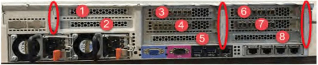 IBM FlashSystem V9000 AC3 Rear