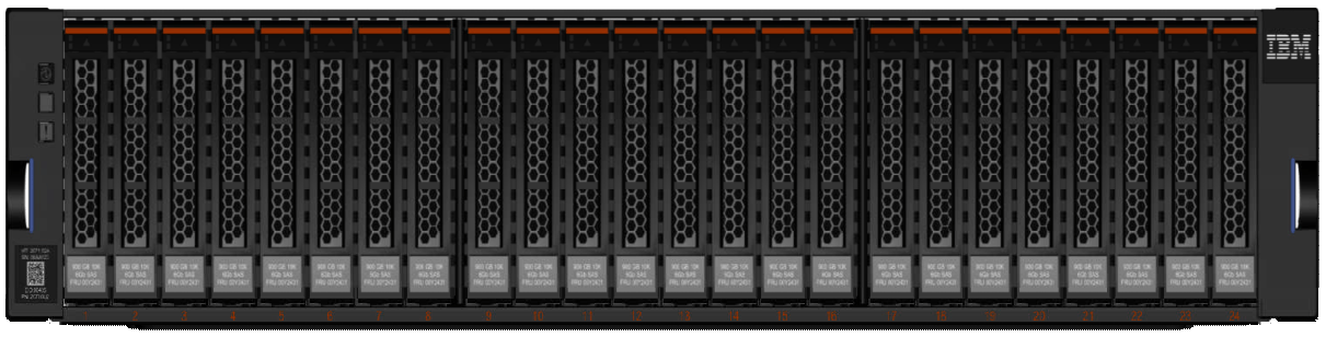 IBM Storwize V5030F Front