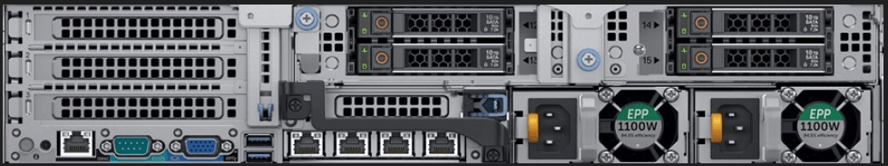 Dell EMC PowerEdge R7425 4SFF Rear