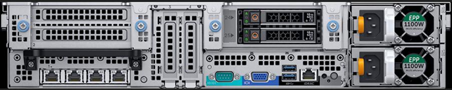 Dell EMC PowerEdge R840 2SFF Rear