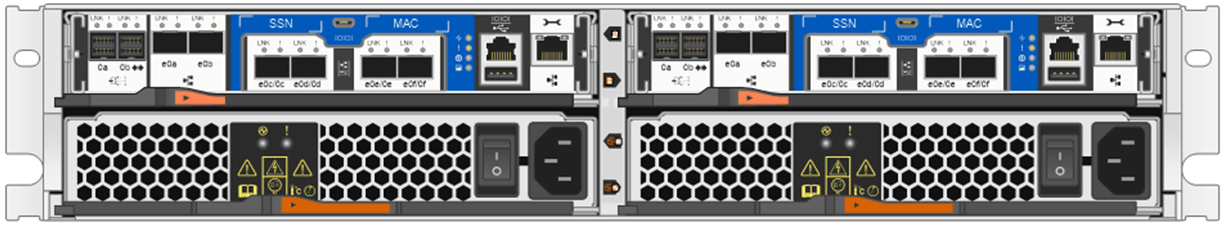 NetApp All Flash FAS (AFF) A220 Rear