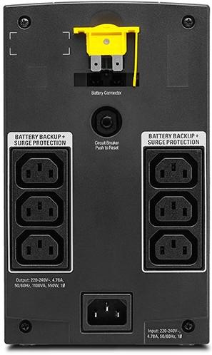 APC by Schneider Electric Back-UPS BX1100LI Rear