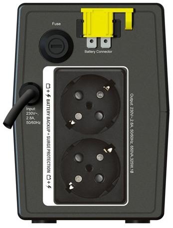 APC by Schneider Electric Back-UPS BX650LI-GR Rear