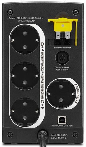 APC by Schneider Electric Back-UPS BX700U-GR Rear