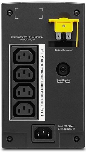 APC by Schneider Electric Back-UPS BX800LI TRear