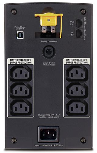 APC by Schneider Electric Back-UPS BX950UI Rear
