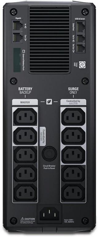 APC by Schneider Electric Back-UPS Pro BR1500GI Rear