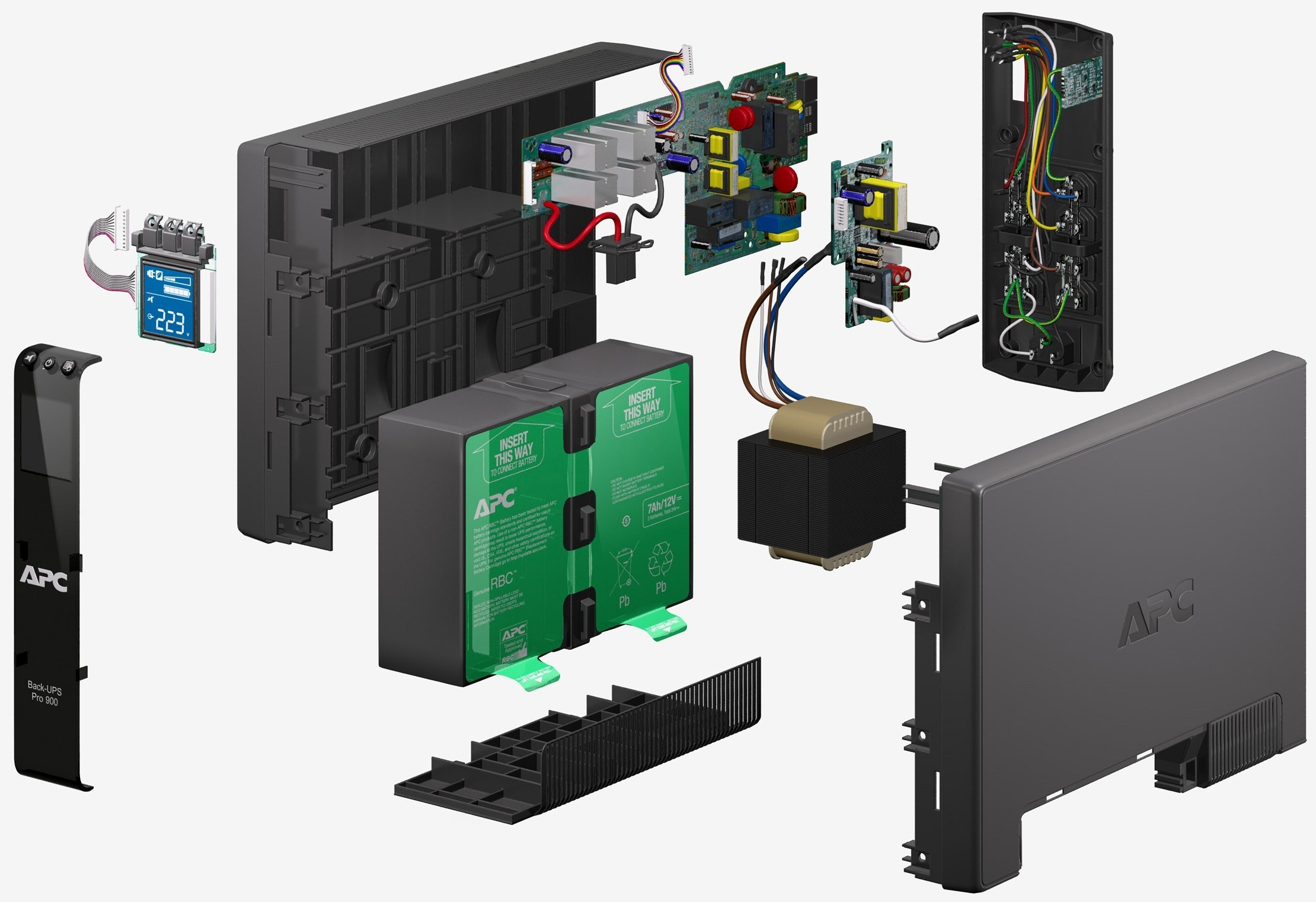 APC by Schneider Electric Back-UPS Pro BR900GI-RS Exploded View