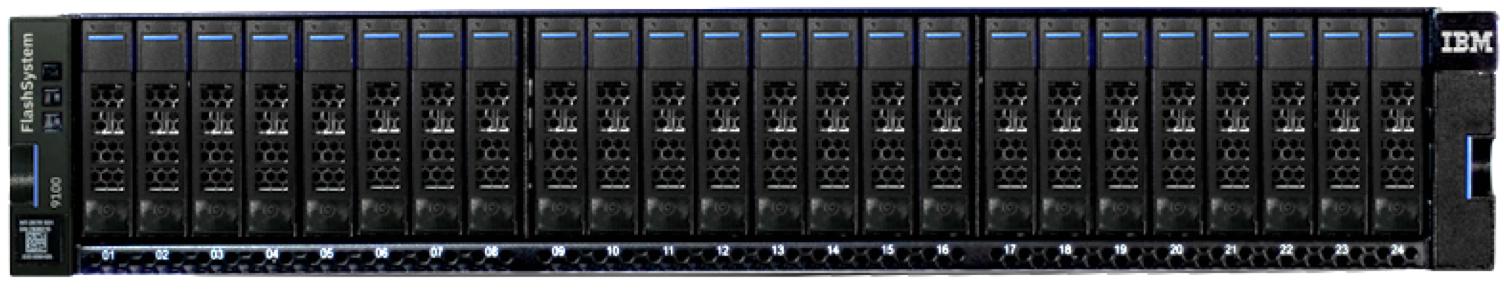 IBM FlashSystem 9100 Front