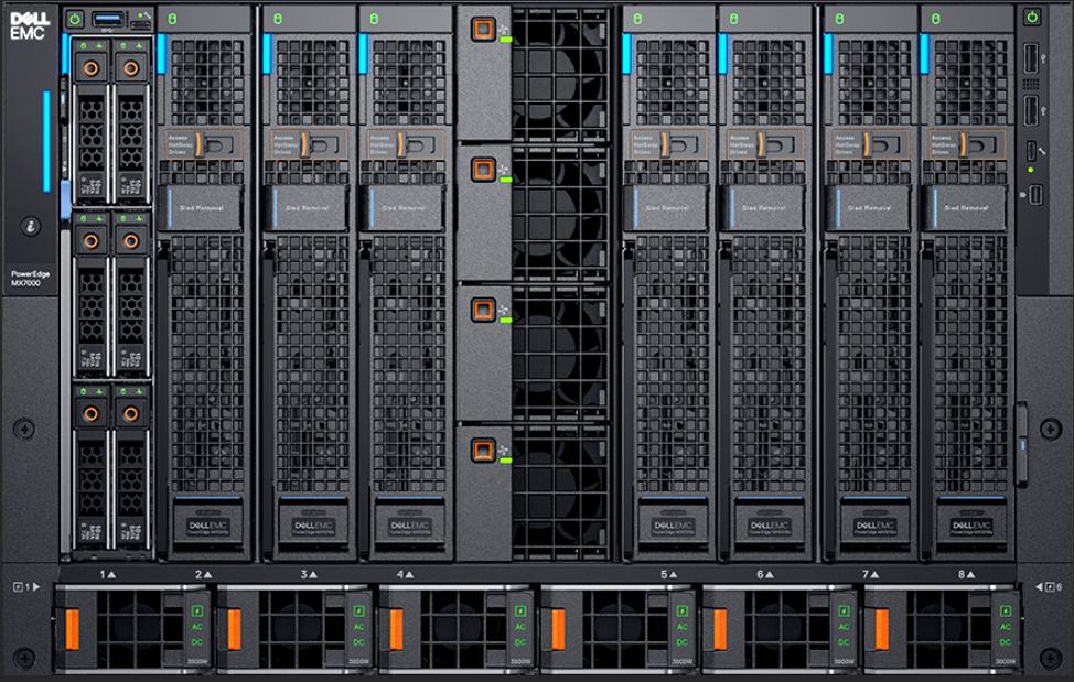 Dell-EMC-PowerEdge-MX-7000-Front-with-MX5016s