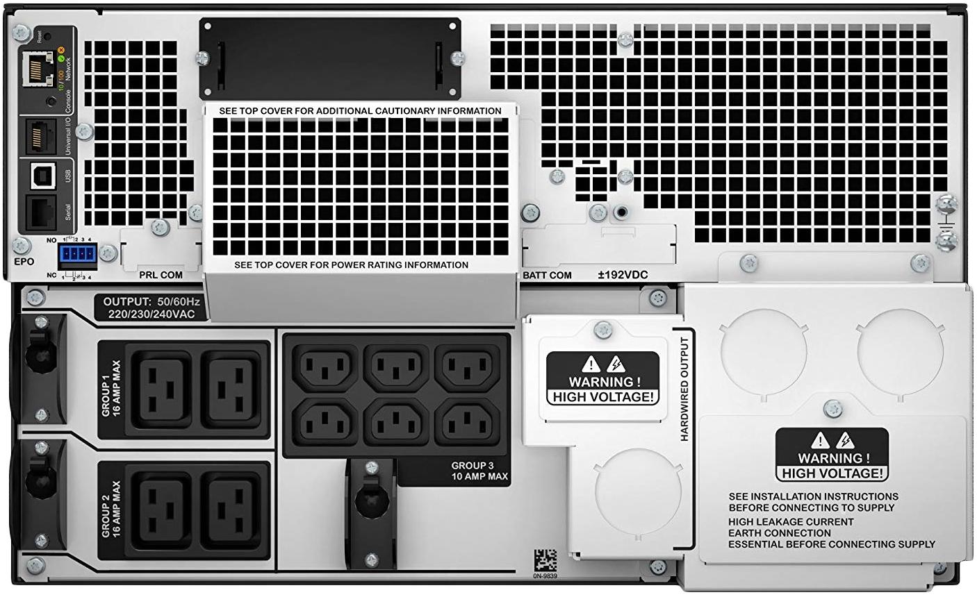 APC by Schneider Electric SRT10KRMXLI Rear