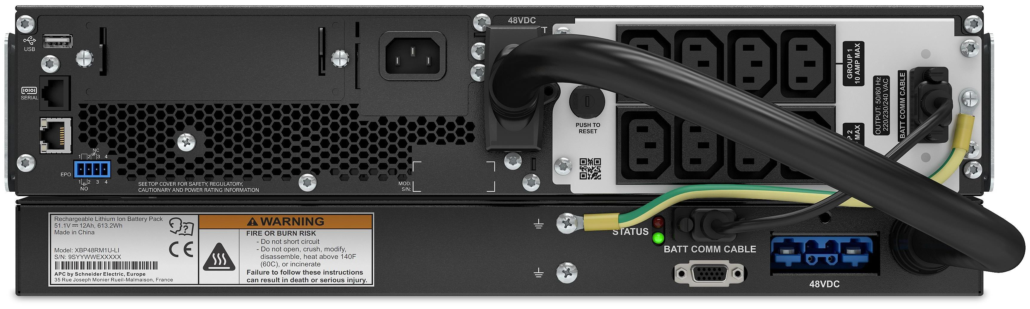 APC by Schneider Electric SRTL1000RMXLI Rear
