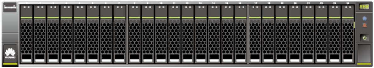 Huawei OceanStor 2U SAS disk enclosures SFF Front