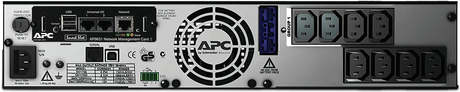 APC by Schneider Electric Smart-UPS SMX750INC Rear