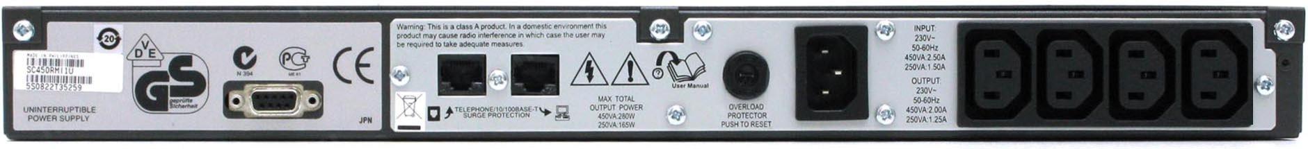 APC-by-Schneider-Electric-Smart-UPS-SC450RMI1U-Rear